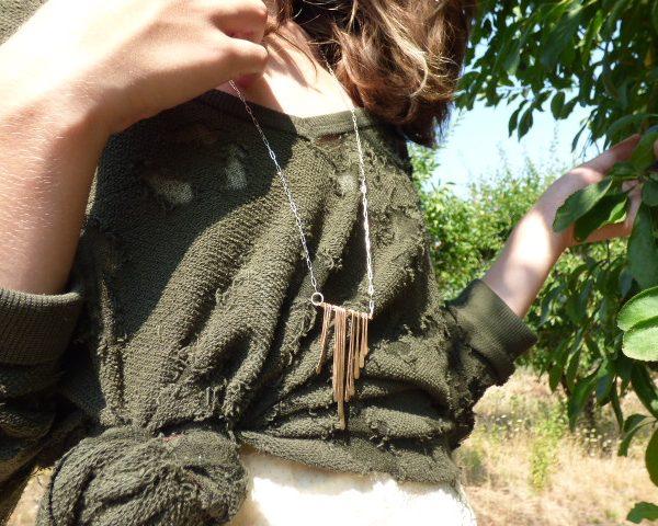 Raining Fringe Necklace detail 2